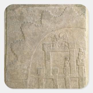 Fästning under Siege, från Nimrud, Irak Fyrkantigt Klistermärke