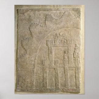 Fästning under Siege, från Nimrud, Irak Poster