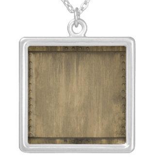 fastnitad grungy guld- metall pläterar silverpläterat halsband