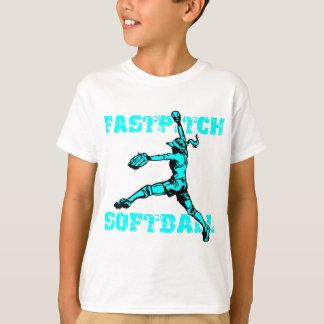 Fastpitch bekymrad lt.blue tröjor
