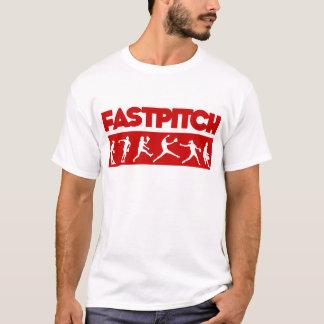 Fastpitch remsa som är röd t shirt