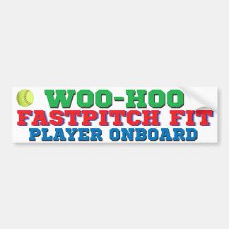 FastPitch uppvaktar den färdiga spelare ombord Hoo Bildekal