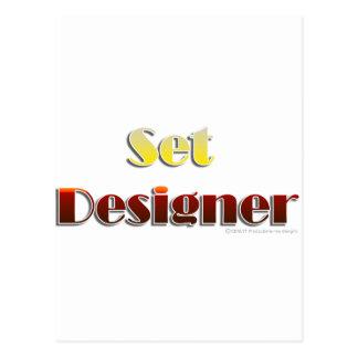 Fastställd formgivare (text endast) vykort