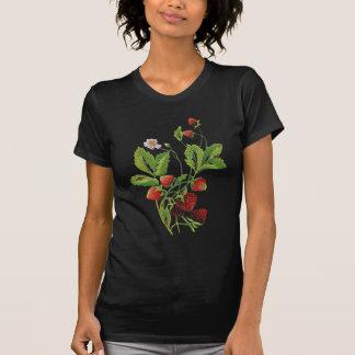 Faux broderade nya jordgubbar t shirts