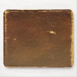 Faux för vintagebruntläder mus matta