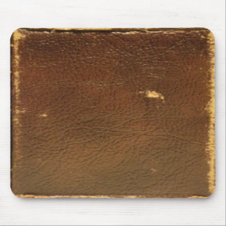 Faux för vintagebruntläder musmatta