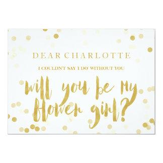 Fauxen som guld- konfettiar ska dig, är min 12,7 x 17,8 cm inbjudningskort