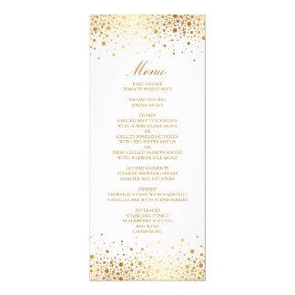 Fauxguld omkullkastar det eleganta menykortet för 10,2 x 23,5 cm inbjudningskort