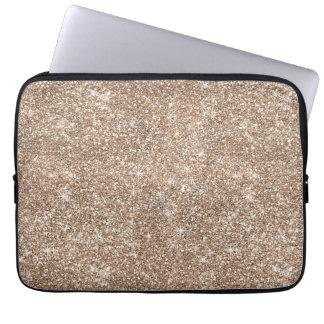 Fauxguld omkullkastar mallen för laptop sleeve