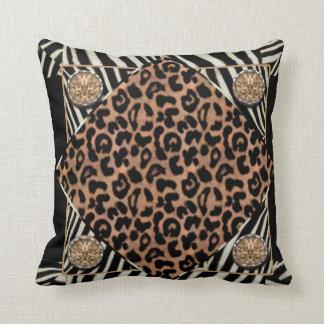 Fauxleoparden och sebraamerikanen MoJo kudder Dekorativ Kudde