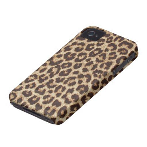 FauxLeopardpäls iPhone 4 Case-Mate Skal
