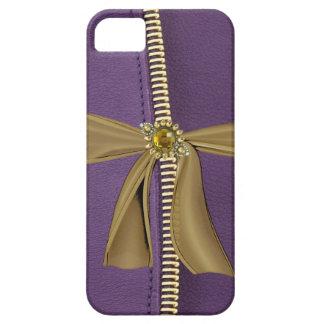 Fauxlilaläder & fodral för Zipper IPhone4 iPhone 5 Fodraler