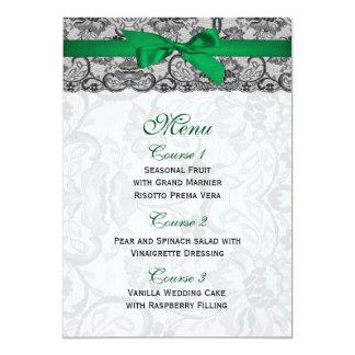 Fauxsnöre och bandsmaragden görar grön 12,7 x 17,8 cm inbjudningskort