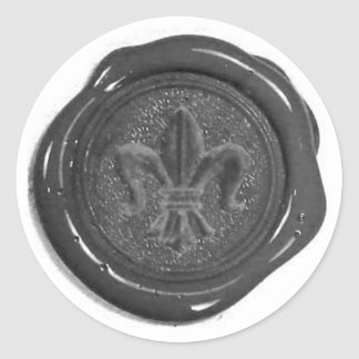 Fauxvaxen förseglar rund klistermärke