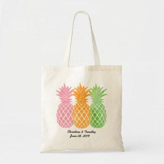 Favör för ananasbröllopvälkomnande Bag|Wedding Budget Tygkasse