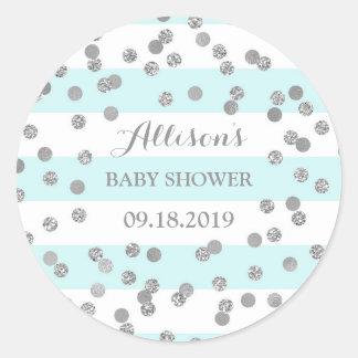 Favör för baby shower för konfettiar för runt klistermärke
