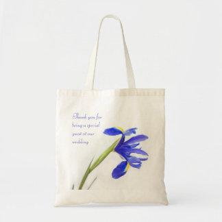 Favör för bröllop för PurpleI Irisblomma hänger Tygkasse