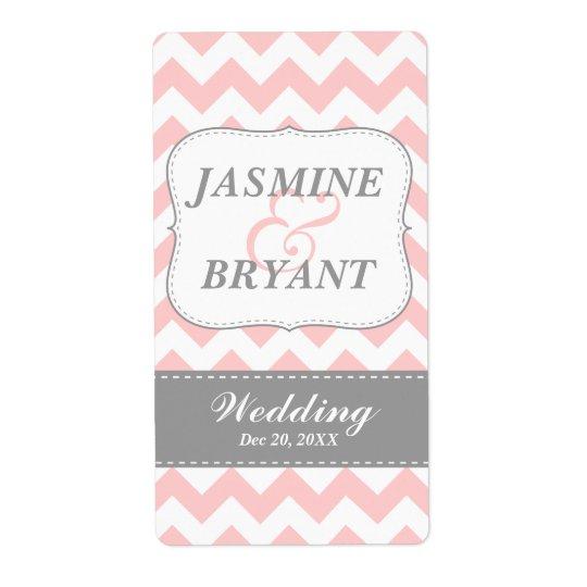 Favör för mönster för sparre för bröllopvinflaska  fraktsedel