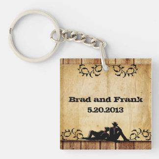 Favörer för nyckelring för bröllop för