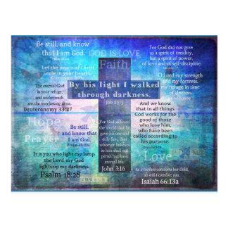 Favorit- bibelVerses med kristenkor Vykort