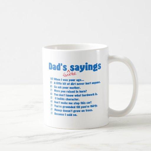 Favorit- ordmugg för pappor muggar
