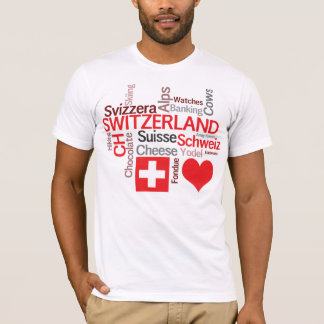 Favorit- schweiziska saker - jag älskar Schweitz Tee Shirt