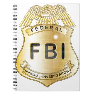Fbi-emblem Anteckningsbok Med Spiral