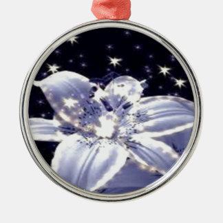 fe-blomma julgransprydnad metall