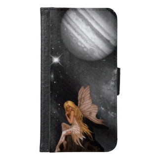 Fe med månebakgrund samsung galaxy s6 plånboksfodral