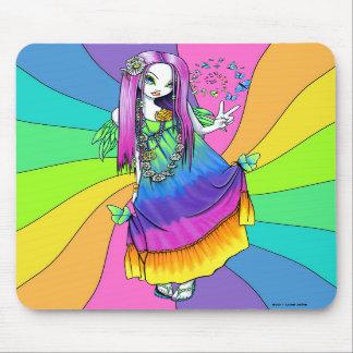 """Fe Mousepad för Hippie """"för Chloe"""" regnbågefred Musmatta"""