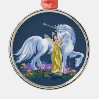 Fe och Unicorn Julgransprydnad Metall