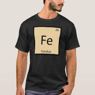 Fe - Symbol för bord för Fonduekemi periodiskt T-shirt