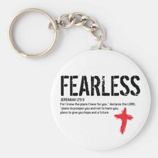 FEARLESS--JEREMIAH29:11 RUND NYCKELRING