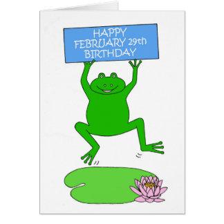 Februari 29th Birthday. Hälsningskort