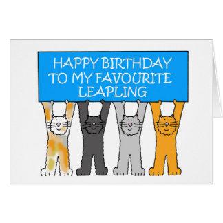 Februari 29th födelsedag (att stava för UK av Hälsningskort