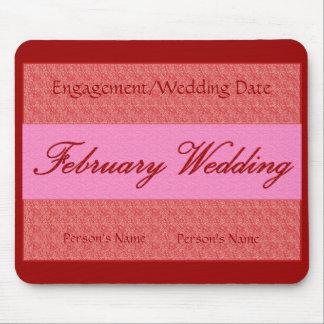 """""""Februari bröllop"""" Mousepad - anpassade Mus Mattor"""