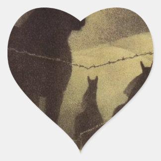 Februari vid anslags- trä hjärtformat klistermärke