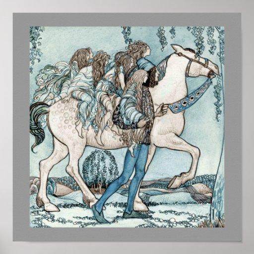 Feer på hästrygg posters