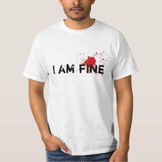 """Fejka blodfläckGagT-tröja """"som mig, bötfäller T Shirt"""