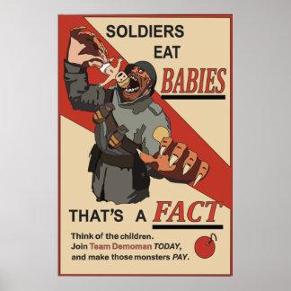 Fejka den ryska affischen för propaganda WW1 Poster