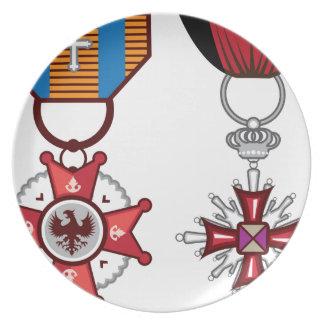 Fejka vektorn som militära medaljer/beställer tallrik