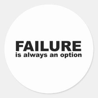 fel är alltid ett alternativ runt klistermärke