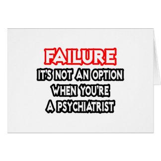 Fel… inte en alternativ… psykiater hälsningskort
