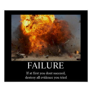 Fel - rolig Motivational affisch Poster