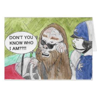 Felaktigt Bigfoot födelsedagkort Hälsningskort