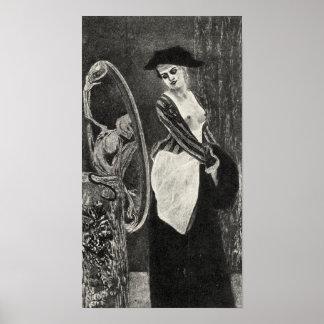 Felicien Rops - demonen av coquetishnessen Print