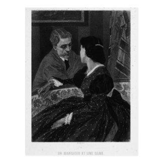 Felicien Rops: En gentleman och en dam Vykort