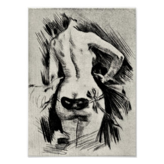 Felicien Rops - hyckleri Print