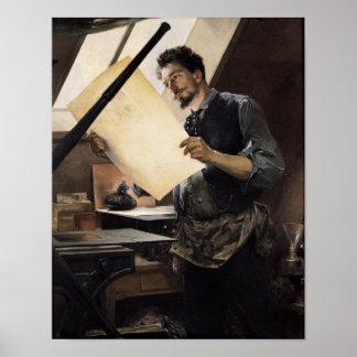 Felicien Rops i hans studio Print
