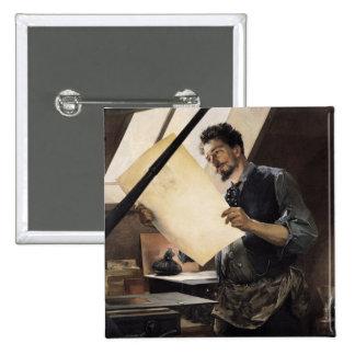 Felicien Rops i hans studio Standard Kanpp Fyrkantig 5.1 Cm